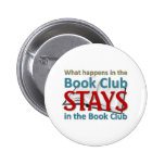 What happens in the book club 2 inch round button