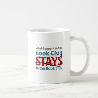 What happens in the book club coffee mug