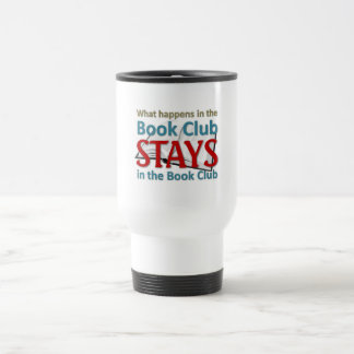 What happens in the book club travel mug
