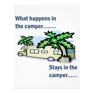 What happens in the camper, stays in the camper flyer