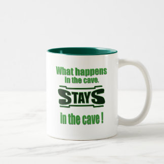 What Happens in the Cave Stays Two-Tone Coffee Mug