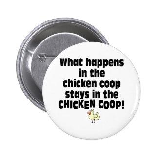 What Happens in the Chicken Coop 2 Inch Round Button