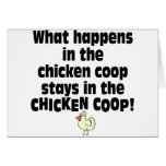 What Happens in the Chicken Coop Card