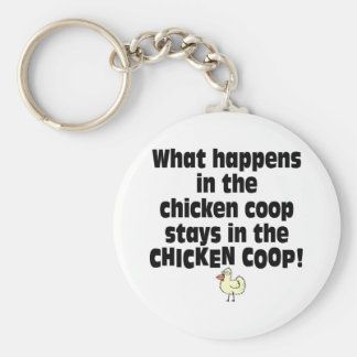 What Happens in the Chicken Coop Keychain