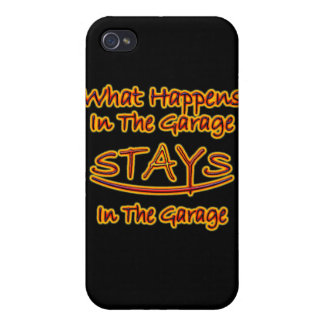 What Happens In The Garage Stays In The Garage Case For iPhone 4