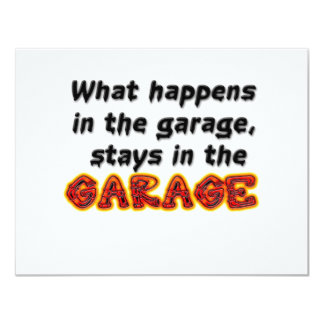 What Happens in the Garage Stays in the Garage Invites