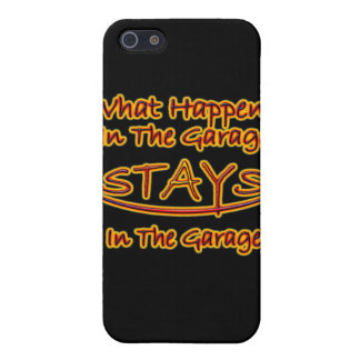 What Happens In The Garage Stays In The Garage iPhone SE/5/5s Case