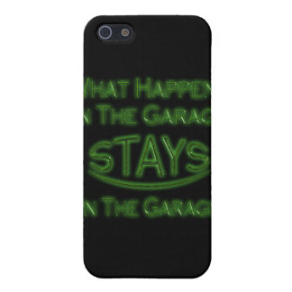 What Happens In The Garage Stays Iphone 4 Case Gre