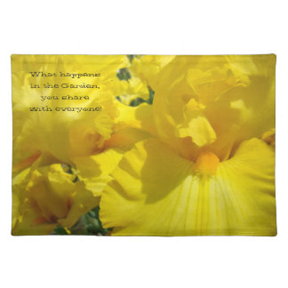 What happens in the Garden share with Everyone Cloth Placemat