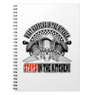 What Happens in the Kitchen: Chef Knives Spiral Note Books