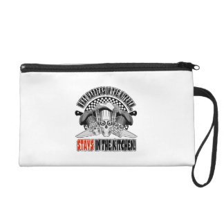 What Happens in the Kitchen: Chef Knives Wristlet Purse