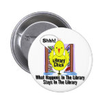What Happens In The Library... 2 Inch Round Button