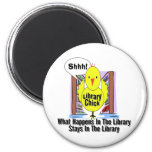 What Happens In The Library... 2 Inch Round Magnet