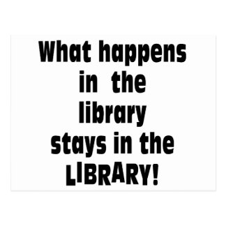 What Happens in the Library Postcard