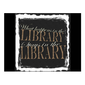 What happens in the library post card