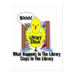 What Happens In The Library... Postcard