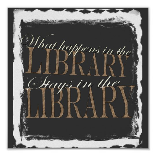 What happens in the library poster