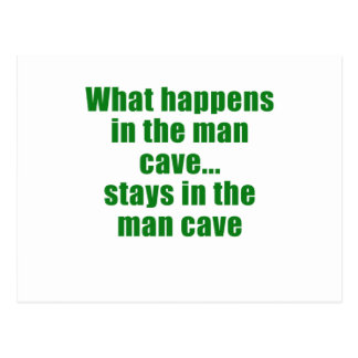What Happens in the Man Cave stays in the Man Cave Postcard