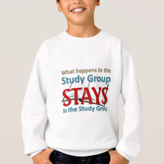 What happens in the study group sweatshirt