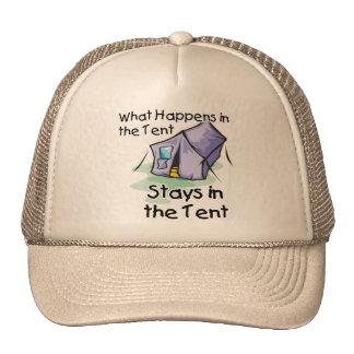 What Happens in the Tent Trucker Hat