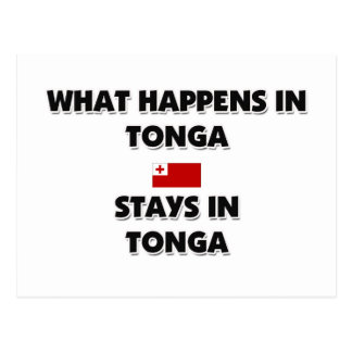 What Happens In TONGA Stays There Postcard