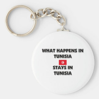 What Happens In TUNISIA Stays There Keychain