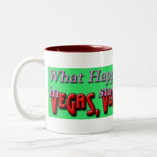 What Happens in Vegas green mug