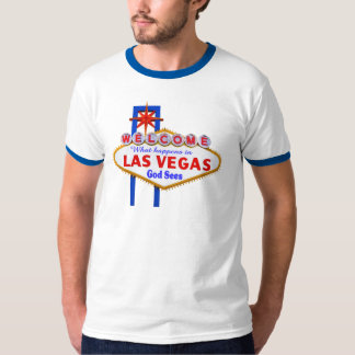 What Happens In Vegas ringer t-shirt