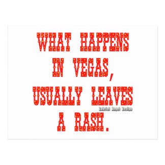 What Happens in Vegas, Usually Leaves a Rash Postcard