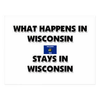 What Happens In WISCONSIN Stays There Postcard