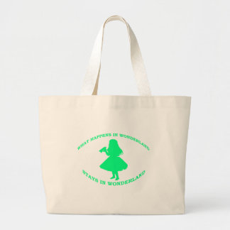 What Happens In Wonderland Stays In Wonderland Large Tote Bag