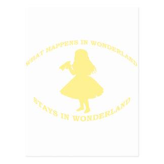 What Happens In Wonderland Stays In Wonderland Postcards