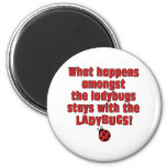 What Happens  . . . Ladybugs 2 Inch Round Magnet