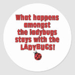 What Happens  . . . Ladybugs Classic Round Sticker