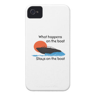 WHAT HAPPENS ON BOAT iPhone 4 CASES