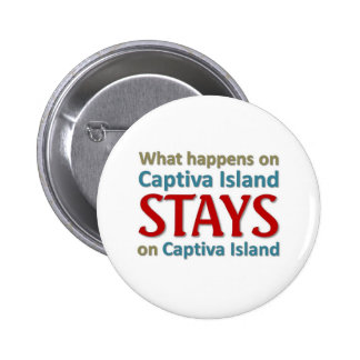 What happens on Captiva Island Pinback Button