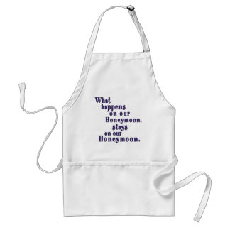 What Happens on our Honeymoon Aprons