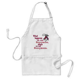 What Happens on our Honeymoon Apron