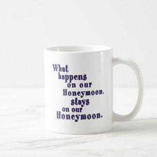 What Happens on our Honeymoon Classic White Coffee Mug