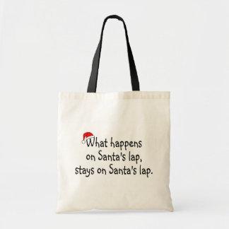 What Happens On Santas Lap Stays On Santas Lap 2 Budget Tote Bag