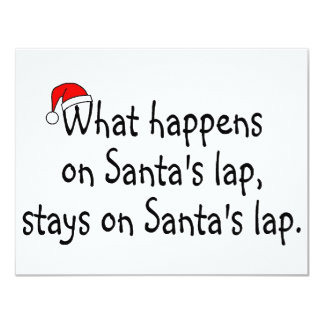 What Happens On Santas Lap Stays On Santas Lap 2 Personalized Announcement