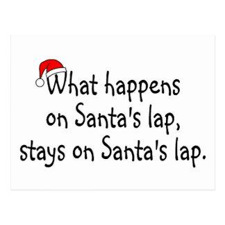 What Happens On Santas Lap Stays On Santas Lap 2 Postcard