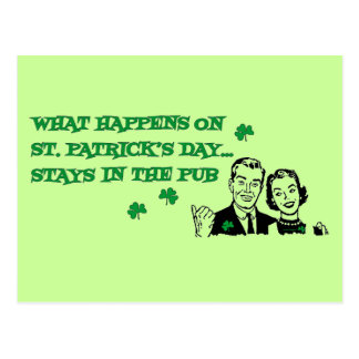 What Happens on St. Patrick's Day Postcard