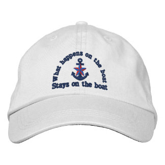 What happens on the boat nautical star anchor baseball cap