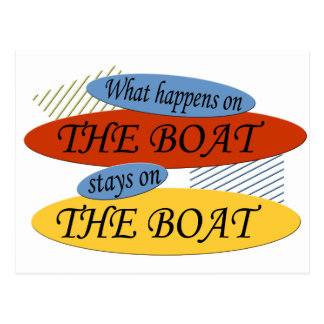 What Happens On The Boat Postcard