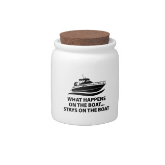 What Happens On The Boat ... Stays On The Boat Candy Jars