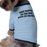 WHAT HAPPENS ON THE BOAT... STAYS ON THE BOAT DOGGIE T-SHIRT