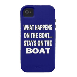 What happens on the boat stays on the boat - funny iPhone 4 cover