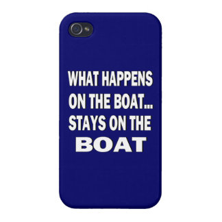 What happens on the boat stays on the boat - funny iPhone 4/4S case