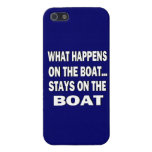 What happens on the boat stays on the boat - funny iPhone 5 covers